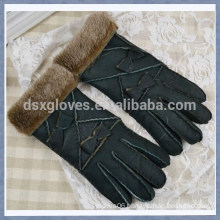 Promotional Fur Glove Wool Lined Sheepskin Fur Glove