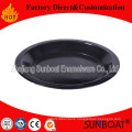 Sunboat Kitchenware/ Kitchen Appliance Black Enamel Bowl/ Enamel Plate Sets