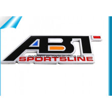 High Waterproof Customized ABS Car Sticker Blue Enamel Car Badge Car Emblem Oval Shape Car Badge