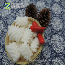 Eu Standard Treated IQF Pineapple Cut Blanced and Boild  Frozen Squid Flower
