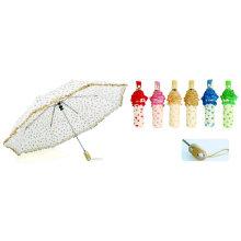 Herz-Siebdruck-Automatik 3facher Regenschirm (YS-3FA22083680R)