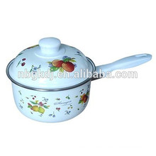 enamel single handle pot with pp lids & Chinese enamelware