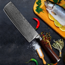 Abrasion and corrosion resistance damascus knife