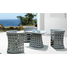 Ensemble de meuble en rotin Chaise de table à manger en damier pour jardin Patio (F862)