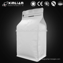 square flat bottom aluminum foil coffee packaging bag