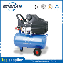 Cheap portable 24L 2hp piston direct driven small air compressor with wheel