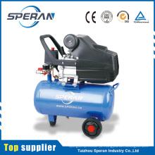 Compressor de ar pequeno conduzido direto do pistão barato do portable 24L 2hp com roda