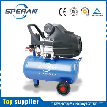 Cheap portable 24L 2hp piston direct driven small air compressor with wheel