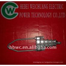 instalación de estación eléctrica, abrazadera de tensión de aluminio