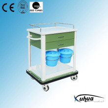 Hospital Medical Treatment Trolley with Buckets (N-9)