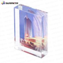 Sublimação cristal vidro foto moldura casamento lembrança troféu