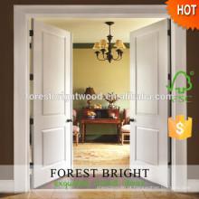Porta do desenhista de madeira interior dobro branco do artesão elegante