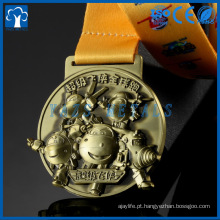 Cheap Fashion Custom Antique Gold, Silver Bronze Logo Metal Award Medal