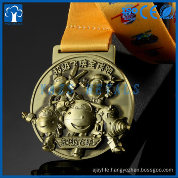 Cheap Fashion Custom Antique gold ,silver Bronze Logo Metal Award Medal