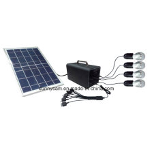 Indoor and Outdoor Portable Mini Solar System with Mobile Charger