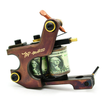 Pure Handmade Brass Coil Tattoo Machine Guns