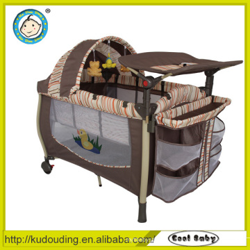 Aluminium cheap plastic baby playpen with mosquito net and toys