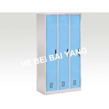 (C-38) Three Doors Plastic-Sprayed Clothes Changing Cabinet