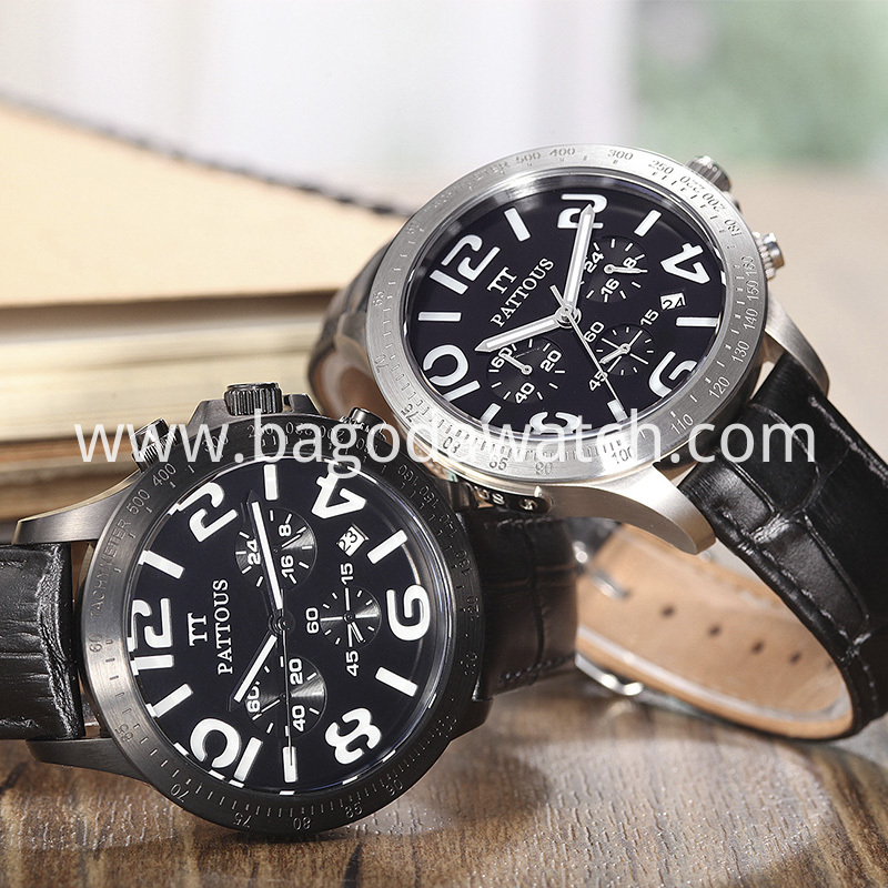 Black Stainless Steel Watch Mens