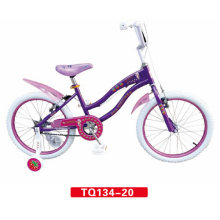 White Tire of Purple Children Bicycle 12inch