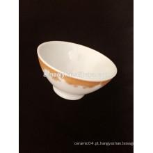 Tigela de cerâmica de alta qualidade com decalque
