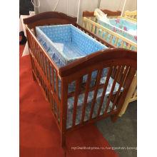 2016 Переносная деревянная складная детская кроватка Детская кроватка Детская кроватка