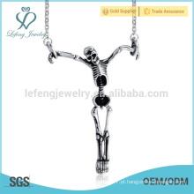 Design de pingentes de crânio de venda superior, jóias pingente de prata