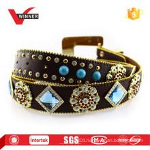 Fashion Alloy Buckle Material Crystal Rhinestone Belt