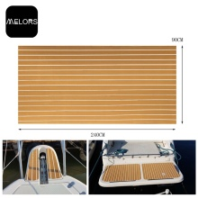 Melors EVA Material High Faethe Faux Teak Sheet