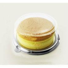 Boîte ronde en plastique transparent pour gâteau au fromage (boîte PP)