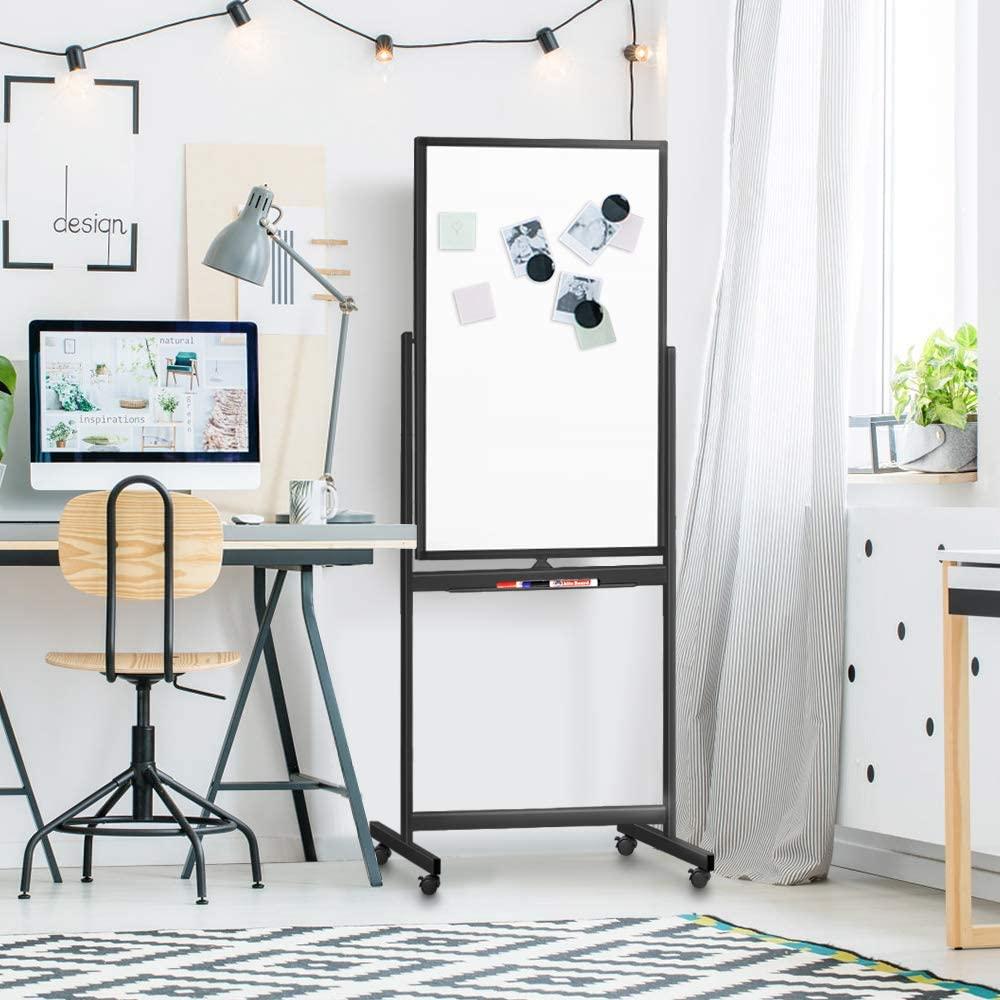 Double Sided Whiteboard Black Frame