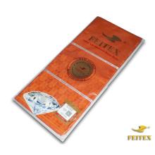 Orange Haute Qualité Différents Types Tissu Brocart Guinée Styles Pour Dames 100% Coton Damassé Tissu Pour Bazin Riche Robes