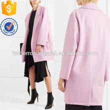 Lavanda mezcla de lana de la capa de fabricación al por mayor de prendas de vestir de las mujeres de moda (TA3022C)