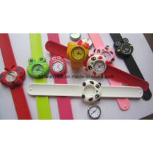 Cute Animal Slap Snap Watch Children Watches Kids Teens Silicone Rubber Wristwatch Slap Watch