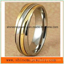 Shineme Jewelry Titanium Carving Gold Ring (TR1818)