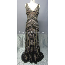 New Style V Neck Sequin Maxi robes
