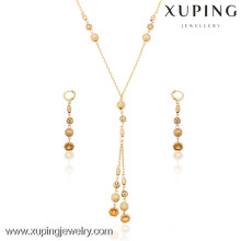63415-Xuping Jewelry Fashion 18k Gold Plated Jewelry Set With 3 PCS