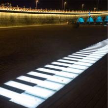 Lumières de piano interactives à LED d'extérieur