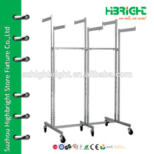 6 arms powder coating garment rack