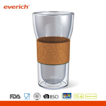 OEM Accept Eco-friendly Custom Coffee Glass Cup