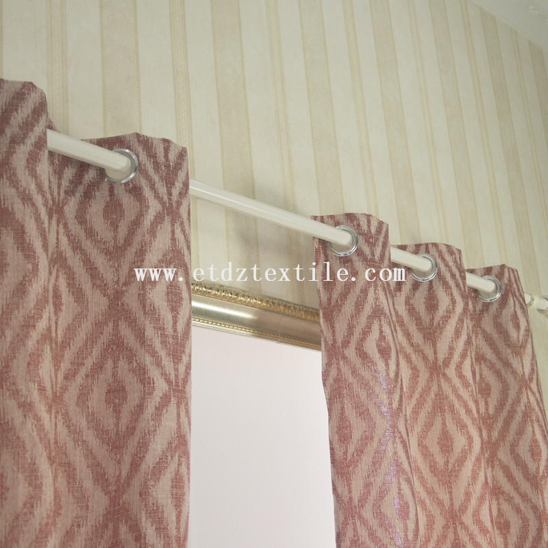 Lady diamond design jacquard curtain 6002