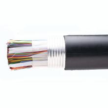 Cat3 cable telefónico 20 pares de cobre desnudo negro