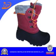 Rojos niños de cuero zapato de la nieve