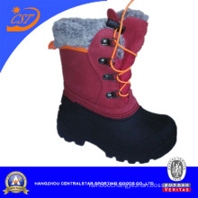 Red Kids Leather Snow Shoe