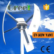 Turbina de viento vertical del eje 500W para el uso en el hogar