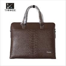 Bolsa masculina de sacos de couro genuíno portátil de China