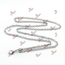 Precio de fábrica cadena de encargo de Rolo del acero inoxidable para el collar (CSR60104)