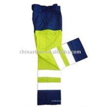 100% polyester Pantalon de sécurité à haute visibilité réfléchissante