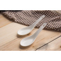 SP-1661 Haonai high quality ceramic spoon, ceramic soup spoon