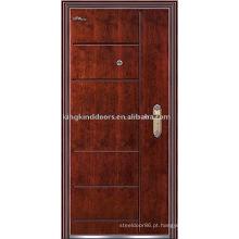 Blindado (JKD-218) forte segurança de porta a porta e a porta de madeira aço Exterior